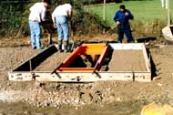 Pit frame for installation