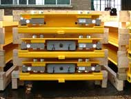 Single axle portable weighbridges in production