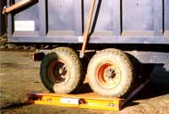 Tandem axle portable weighbridge