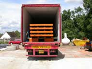 Weighbridge container loaded